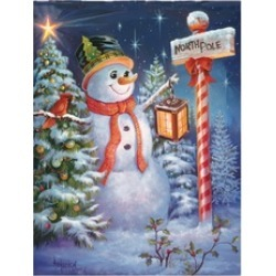 North Pole or Bust Rectangular Snowman Puzzle 500 Pieces
