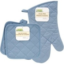 Home Store Blue Quilted Kitchen Linens