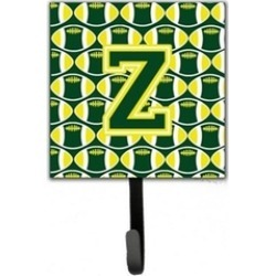 Carolines Treasures CJ1075-ZSH4 Letter Z Football Green & Yellow Leash or Key Ho