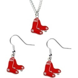Sports Team Logo Necklace and Dangle Earring Charm Set MLB