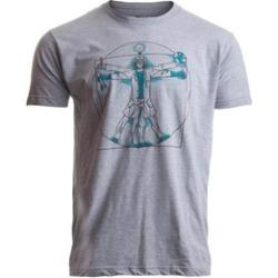 Ann Arbor T-shirt Co. Vitruvian Scientist Geek Geeky Tee
