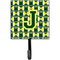 Carolines Treasures CJ1075-JSH4 Letter J Football Green & Yellow Leash