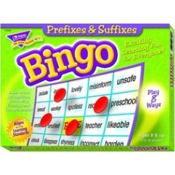 Trend Enterprises T-6140 Prefixes & Suffixes Bingo Game