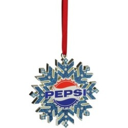 "3.5"" Silver Pepsi Snowflake Christmas Ornament European Crystals"