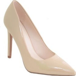 Patent Classic Pointy Toe Women's Pumps Shoes Nude Vegan Leather