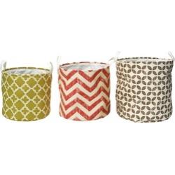 Elements Set of 3 Geometric Nesting Storage Baskets