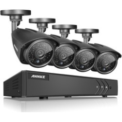 ANNKE 4-Channel Full HD Home Security System with 4 Cameras Dome 960P found on Bargain Bro India from groupon for $106.99