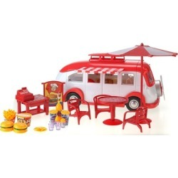 Good Fast Food Food Truck - Design-able Toy Food Truck w/ Outdoor Tables