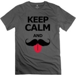 Ytaze Keep Calm And Moustache DeepHeather Adult Tee