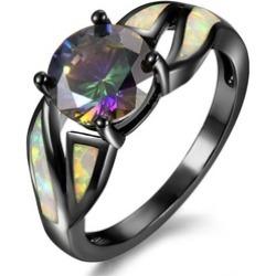 Ring Fine Opal Black Fashion Titanium