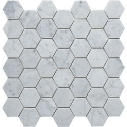 2  Hexagon Polished Marble Backplash