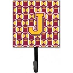 Carolines Treasures CJ1081-JSH4 Letter J Football Maroon & Gold Leash
