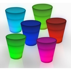 Windy City Novelties LED Neon Shot Glasses - Set of 6