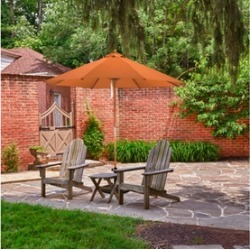 California Umbrella 9' Patio Umbrella with Pulley Lift Wood Pole