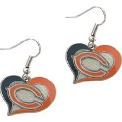Sports Team Logo NFL Swirl Heart Shape Dangle Logo Earring Set Charm Gift