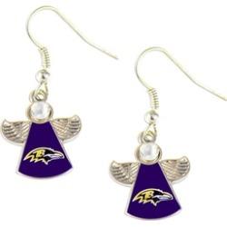 Sports Team Logo NFL Crystal Angel Wings Dangle Logo Earring Set Charm Gift