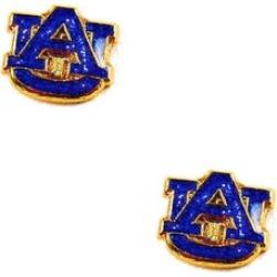 Auburn Tigers Glitter Sparkle Post Stud logo Earring NCAA