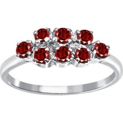 Orchid Jewelry 925 Sterling Silver 0.56 Carat Garnet Engagement Ring