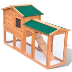 """55"""" Outdoor Wooden Large Chicken Coop Rabbit Hutch Small Animal House"""