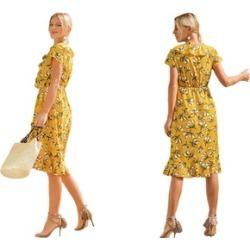 Women Bohemian Beach Casual Dress Floral Short Sleeve Elegant Dresses