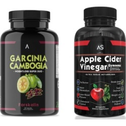 Angry Supplements Garcinia Cambogia with Forskolin and Apple Cider Vinegar Weight Loss Supplement Set