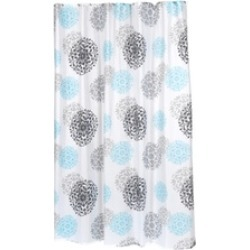 Carnation Home Fashions Extra Long Isabella Fabric Shower Curtain