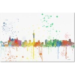 Marlene Watson 'Las Vegas Nevada Skyline Mclr-1' Canvas Art
