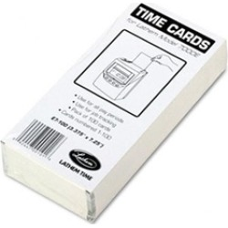 Lathem Time E7-100 Time Card for Lathem Model 7000E- Numbered 1-100- Two-Sided