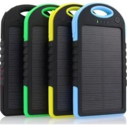 5000 mAh Dual USB Waterproof Solar Power Bank Battery Charger Phone