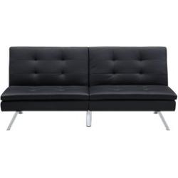 DHP Chelsea Convertible Pillow-Top Sofa Futon, Black