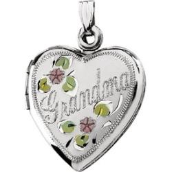 Sterling Silver Grandma Heart Shape Locket