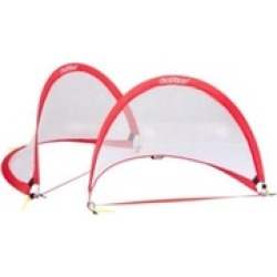 Set of 2 Portable Pop-up Soccer Goals Set w/ Carrying Bag
