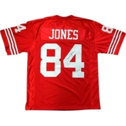 Autographed Brent Jones San Francisco 49ers Red Custom Jersey