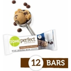 Nutrition Snack Bars, Chocolate Chip Cookie Dough, 1.58 oz, 12 Count