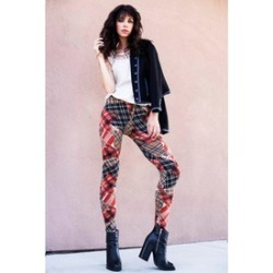 Lady's Velour Printed Leggings