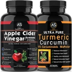 Apple Cider Vinegar & Turmeric 2-Bottle Combination Pack (120ct)