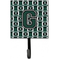 Carolines Treasures CJ1071-GSH4 Letter G Football Green & White Leash or KeyHold