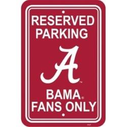 Fremont Die 50201 Alabama Crimson Tide Plastic Parking Sign