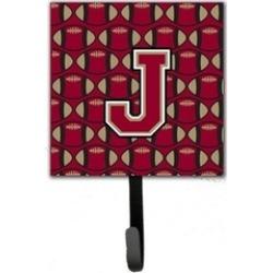 Carolines Treasures CJ1078-JSH4 Letter J Football Garnet & Gold Leash