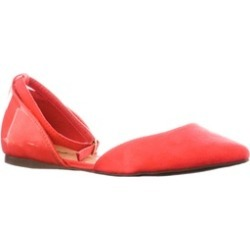 Riverberry 'Dolley-01' Ankel Strap Pointed Toe Flats, Pink Lemonade