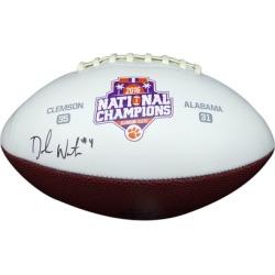 Autographed DeShaun Watson Clemson Tigers White Football