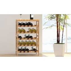 Rustic Wine Rack-Space Saving Free Standing Wine Bottle Holder by Lavish Home