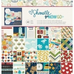 American Crafts 375268 12 x 12 in. Shimelle Go Now Go Single Sided Paper Pad 48