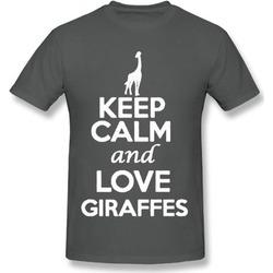 Keep Calm And Love Giraffe Animals Statement Novelty Men T-Shirt Tee