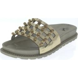 """N Demand Shoes """"Penelope"""" Metallic Slide Sandal LA103-1"""