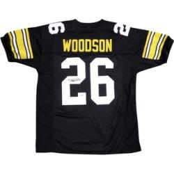 Autographed Rod Woodson Pittsburgh Steelers Black Custom Jersey