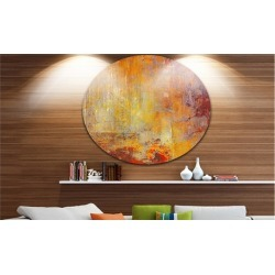Ambient Canvas Grunge' Disc Abstract Circle Metal Wall Art