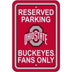 Fremont Die 40298 NCAA Ohio State Buckeyes Plastic Parking Sign