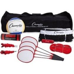 Champion Sports CG202 Tournament Series Volleyball & Badminton Set