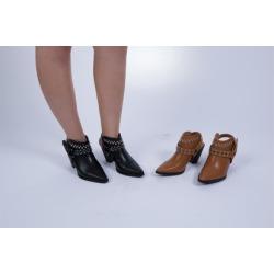"""N Demand Shoes """"Yetti"""" Women's open-ankle Booties LA259-1"""
